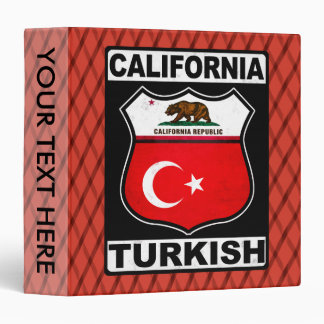 California Turkish American Ring Binder