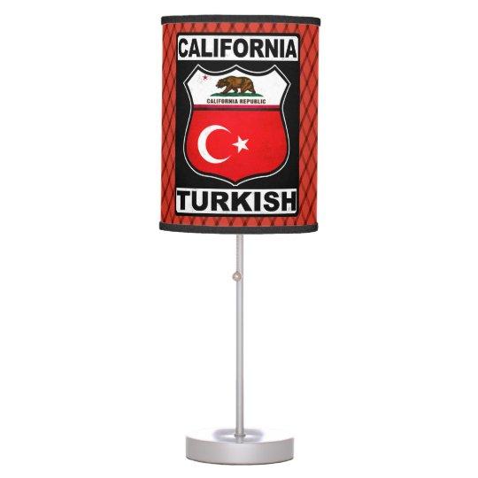 California Turkish American Table Lamp