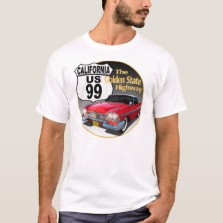 California U S Route 99 - The Golden State T-Shirt