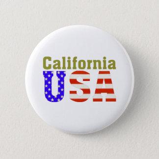 California USA! 2 Inch Round Button