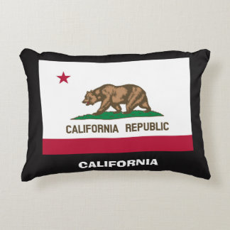 California / USA Flags Pillow