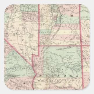 California, Utah, Nevada, Colorado Square Sticker