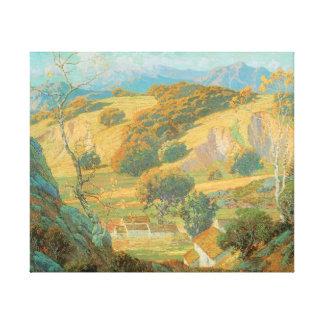 California Valley Farm Maurice Braun Fine Art Canvas Print