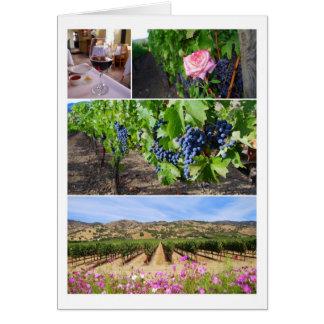 California Vineyard Collage Card