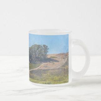 California Vineyard Frosted Glass Coffee Mug