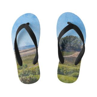 California Vineyard Kid's Flip Flops
