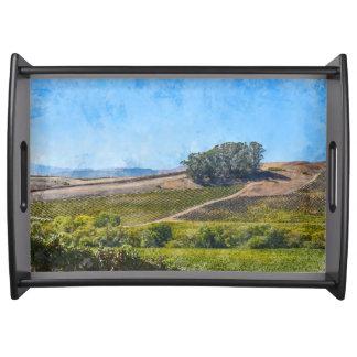 California Vineyard Serving Tray