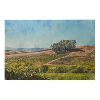 California Vineyard Wood Print
