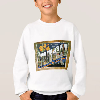 California Vintage Travel Vacation Postcard Sweatshirt