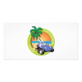 California Volks Dune Buggy with Palms Photo Cards