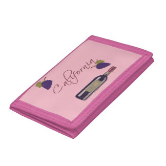 California Wine Trifold Womens Pink Wallet