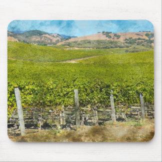 California Wine Vineyard Mouse Pad