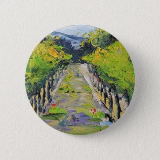 California winery, summer vineyard vines in Carmel 2 Inch Round Button