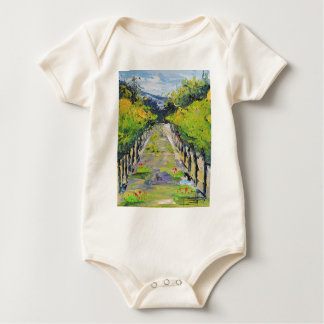 California winery, summer vineyard vines in Carmel Baby Bodysuit