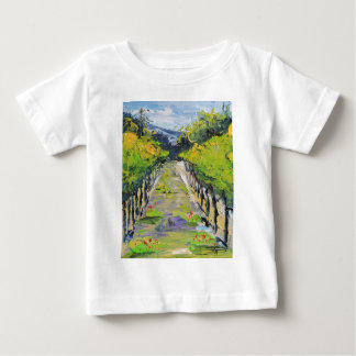 California winery, summer vineyard vines in Carmel Baby T-Shirt
