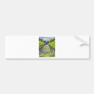 California winery, summer vineyard vines in Carmel Bumper Sticker