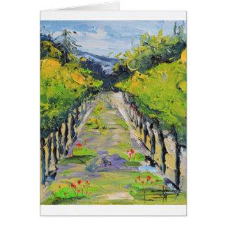 California winery, summer vineyard vines in Carmel Card
