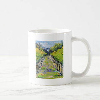 California winery, summer vineyard vines in Carmel Coffee Mug