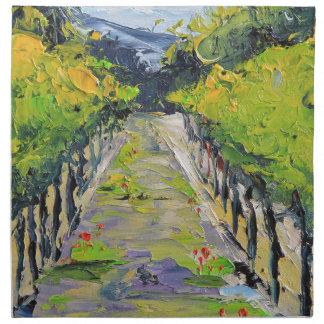 California winery, summer vineyard vines in Carmel Napkin