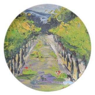 California winery, summer vineyard vines in Carmel Plates