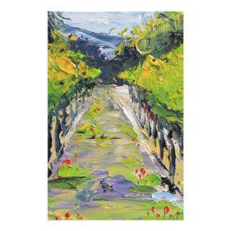 California winery, summer vineyard vines in Carmel Stationery