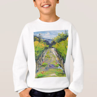 California winery, summer vineyard vines in Carmel Sweatshirt