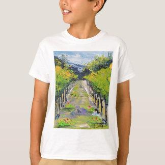 California winery, summer vineyard vines in Carmel T-Shirt