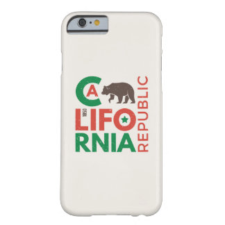 California With Grizzly Bear Logo Barely There iPhone 6 Case