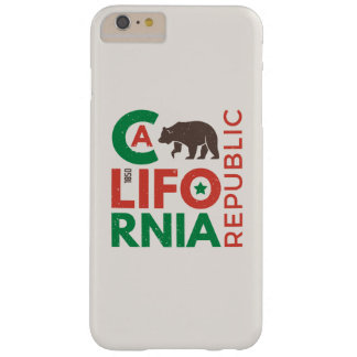 California With Grizzly Bear Logo Barely There iPhone 6 Plus Case