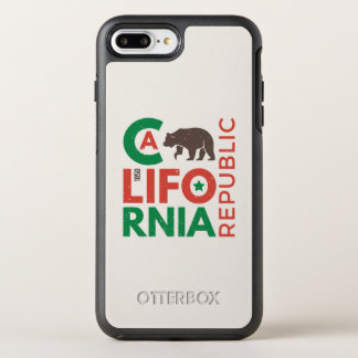 California With Grizzly Bear Logo OtterBox Symmetry iPhone 8 Plus/7 Plus Case