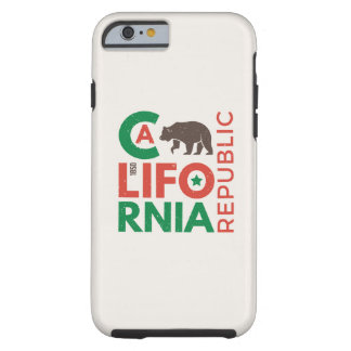 California With Grizzly Bear Logo Tough iPhone 6 Case