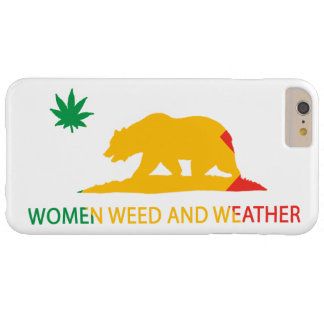 California Women Weed and Weather Flag Barely There iPhone 6 Plus Case