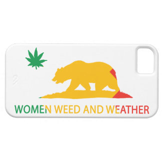 California Women Weed and Weather Flag Case For The iPhone 5