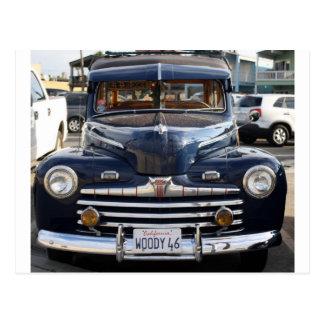 California Woody Classic Car Postcard