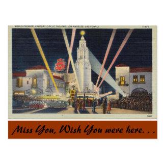 California, World Premier, Los Angeles Postcard