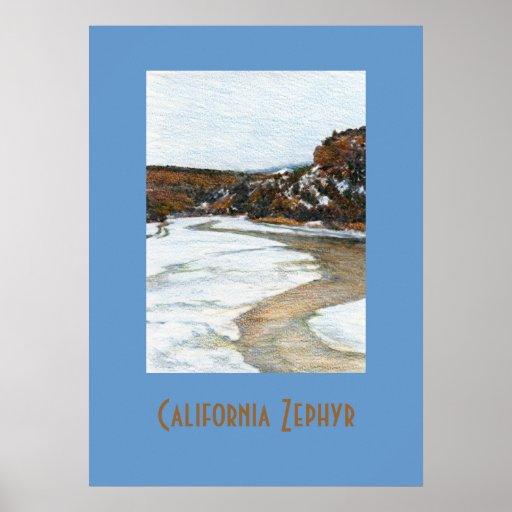California Zephyr Travel Poster