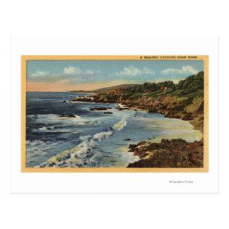 CaliforniaBeautiful Californian Coastal Scene Postcard