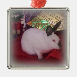 Californian Christmas Silver-Colored Square Ornament