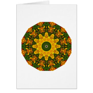 Californian Poppies Nature, Flower-Mandala Card