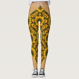 Californian Poppies, Nature, mandala style 006.7 Leggings