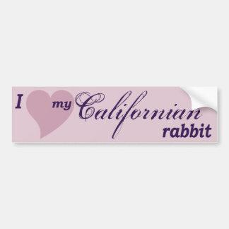 Californian rabbit bumper sticker