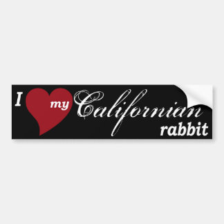 Californian rabbit bumper sticker