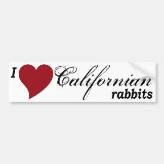 Californian rabbits car bumper sticker