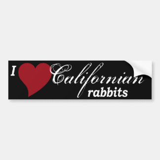 Californian rabbits bumper sticker