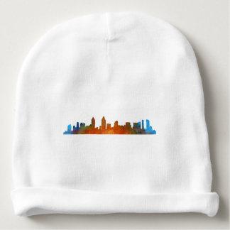 Californian San Diego City Skyline Watercolor v01 Baby Beanie