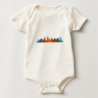 Californian San Diego City Skyline Watercolor v01 Baby Bodysuit