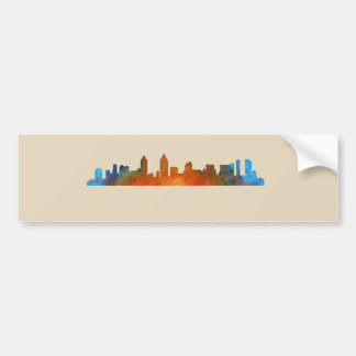 Californian San Diego City Skyline Watercolor v01 Bumper Sticker