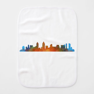 Californian San Diego City Skyline Watercolor v01 Burp Cloth