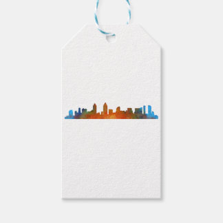 Californian San Diego City Skyline Watercolor v01 Gift Tags
