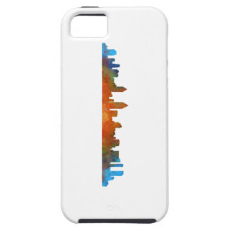 Californian San Diego City Skyline Watercolor v01 iPhone 5 Cover